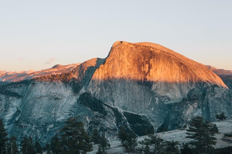 Image of Half Dome Sunset, Yosemite