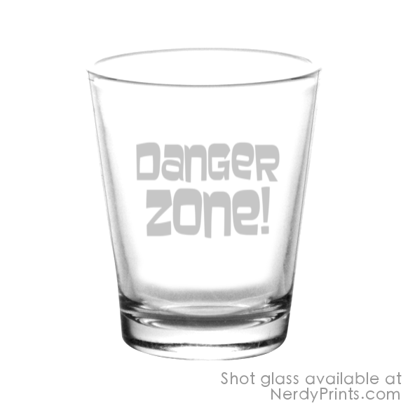 Image of Archer Inspired Shot Glass 2 Set - Danger Zone!
