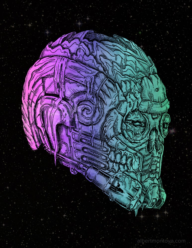 "Image of Print ""Undead StarLord"""