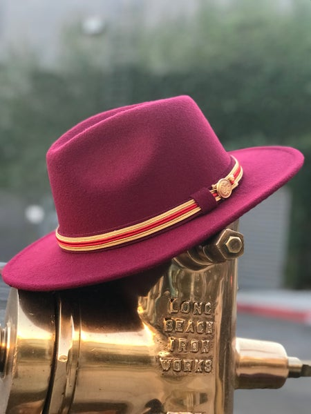 Image of The safo fedora- burgundy
