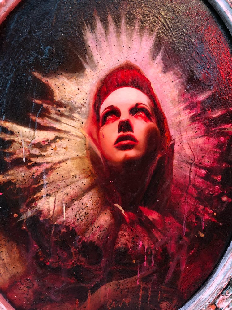 Image of 'THE VIRGIN MARY' [ Unique Print - { 1/1 } ] Hand Embellished Museum Archival Print