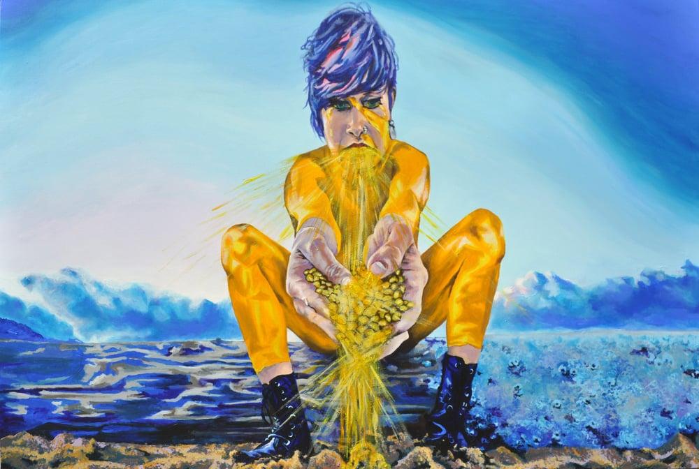 Image of Mellow Yellow Aura Original Painting