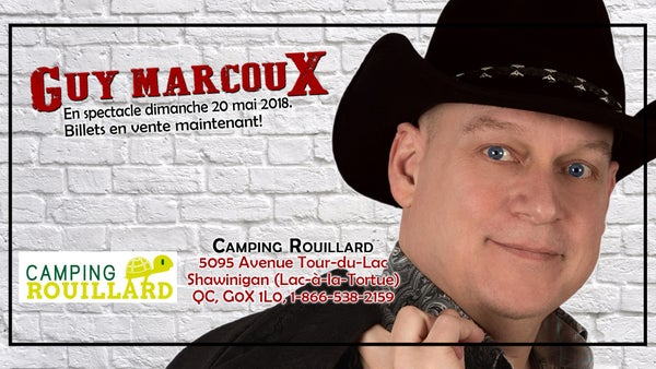 Image of Guy Marcoux billet de spectacle: 20 mai 2018 au Camping Rouillard, Shawinigan QC.