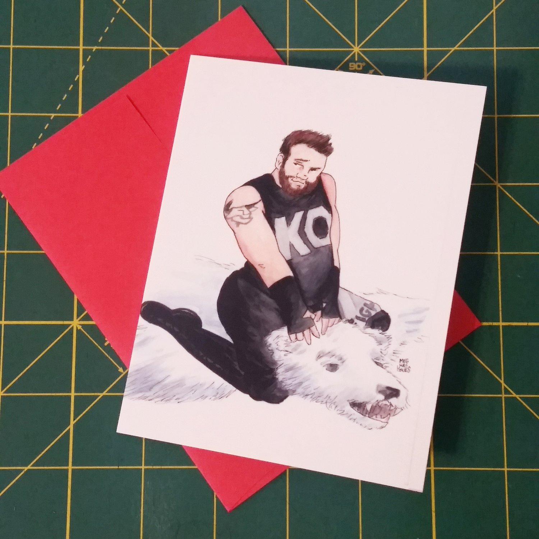 Image of Wrestling Valentine's Cards