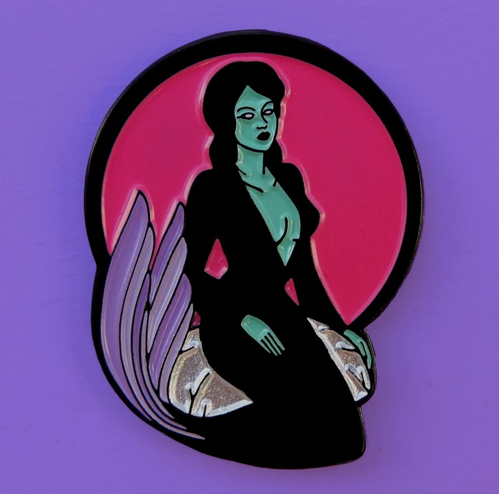 Image of GOTH MERMAID PIN