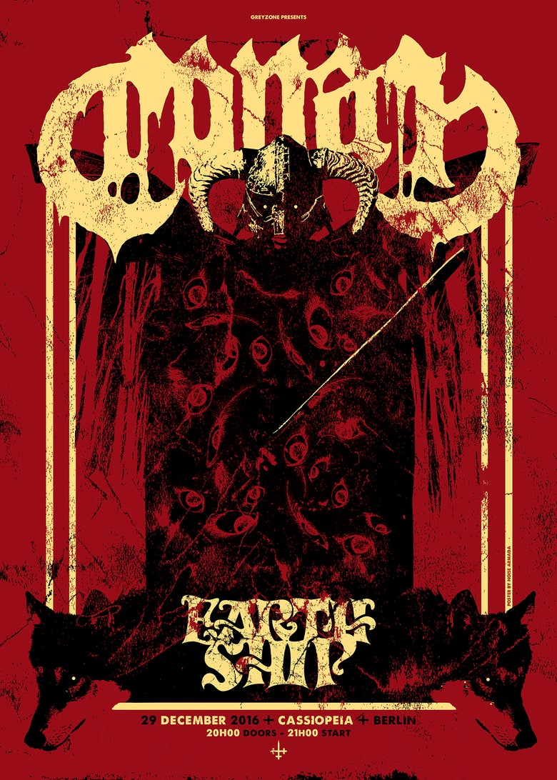 Image of CONAN - screenprinted gigposter