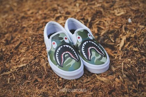 Image of Camo shark vans slip on