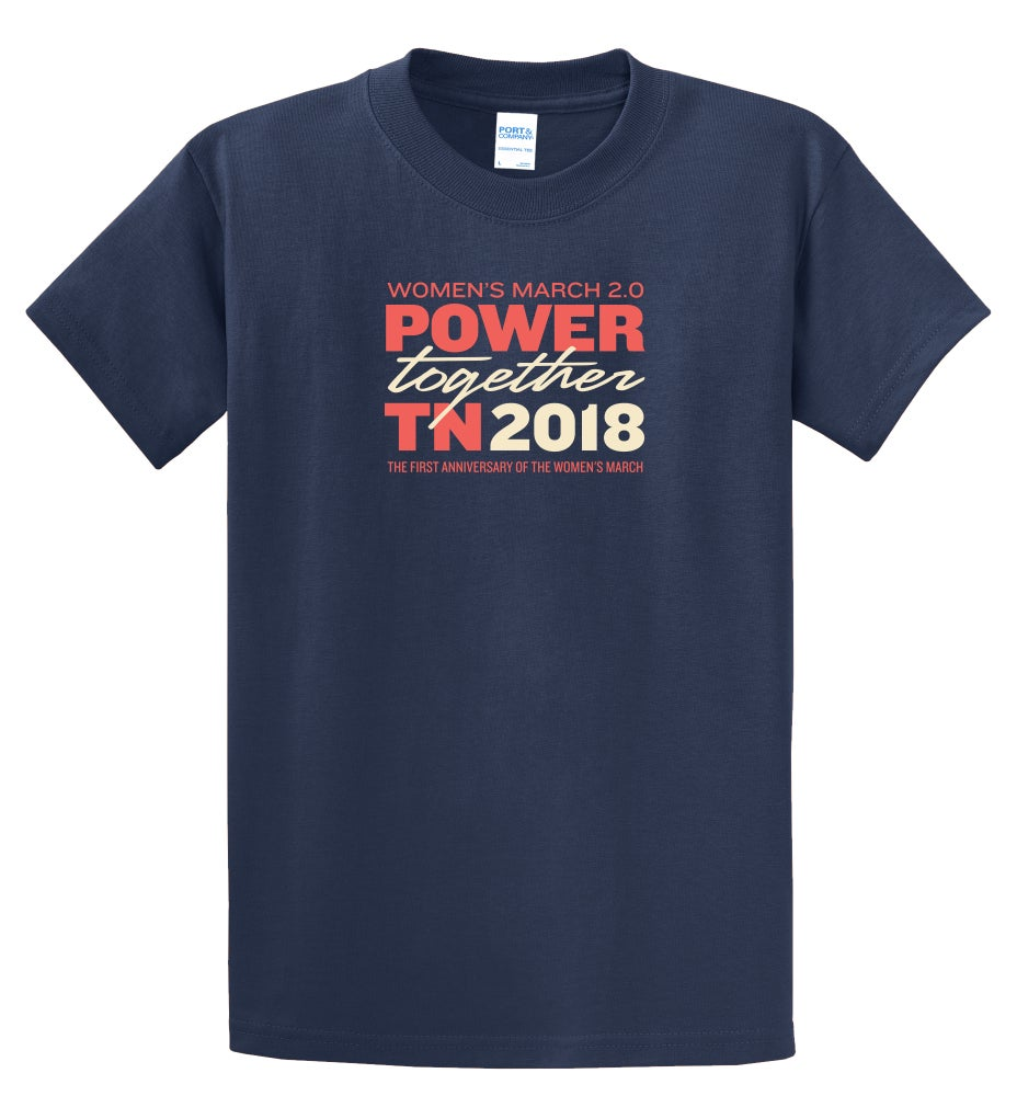 Image of TN Power Together Official Event Tee - Navy S/S