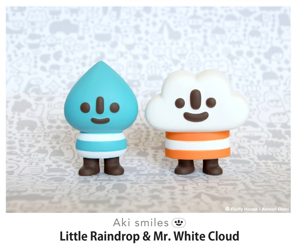 Image of Aki Smiles: Little Raindrop & Mr. White Cloud