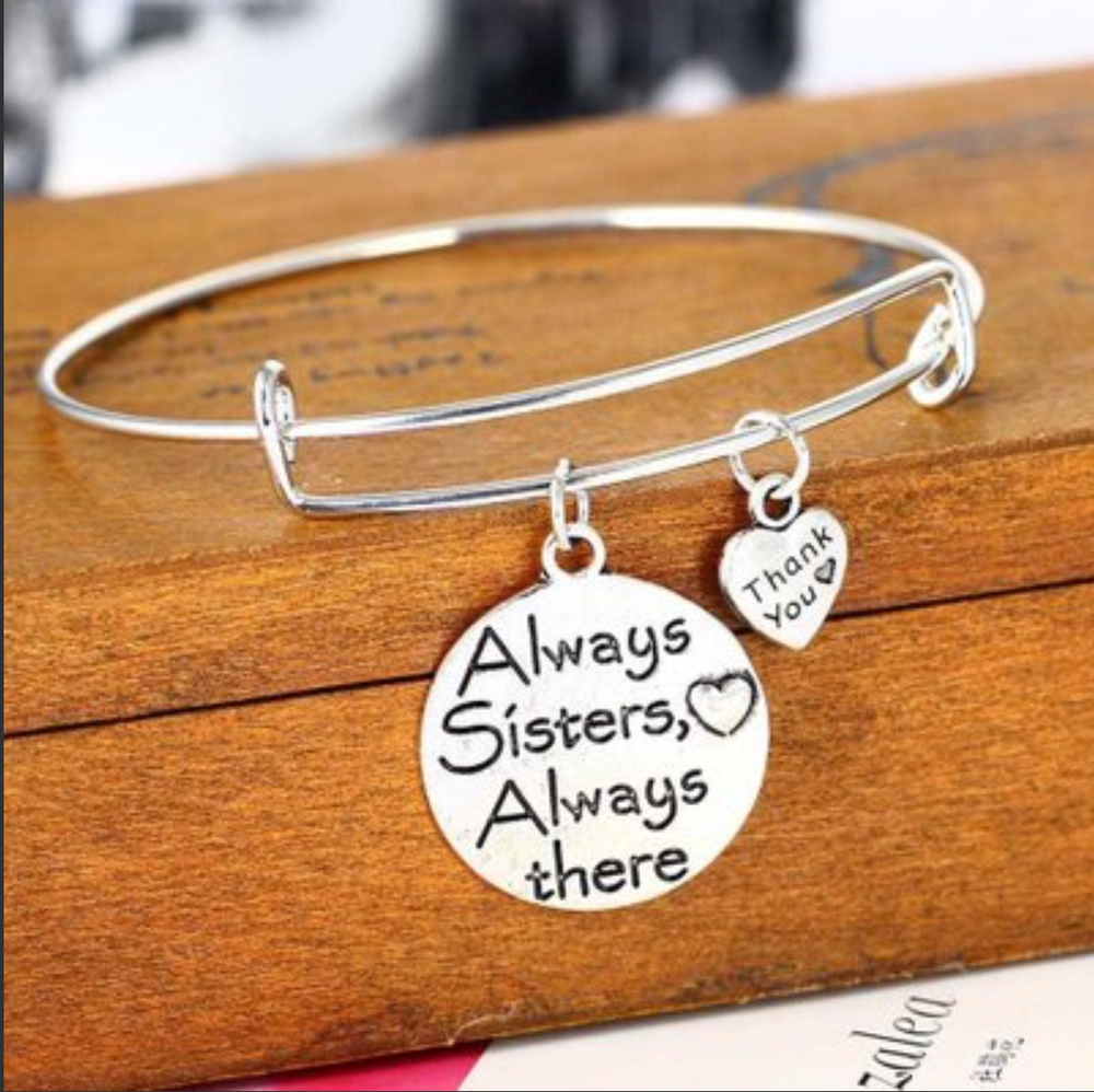 Image of ALWAYS SISTERS ALWAYS THERE BANGLE BRACELET