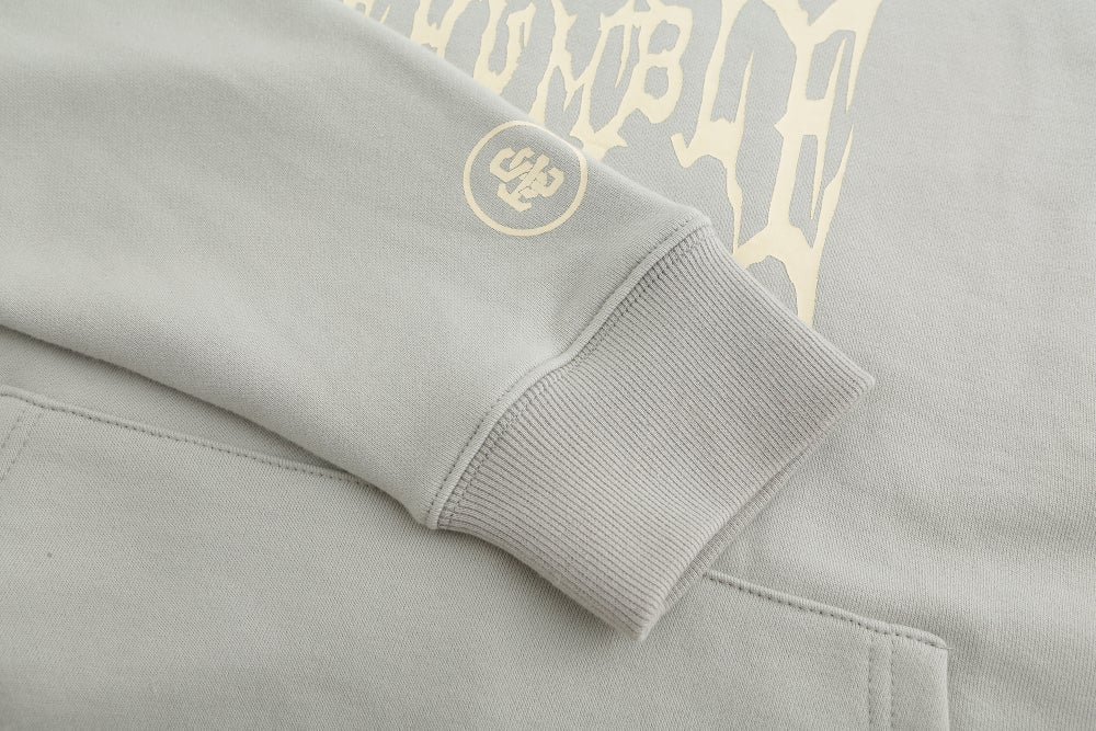 Image of Washed Be Humble Logo Hoodie (Storm Grey)