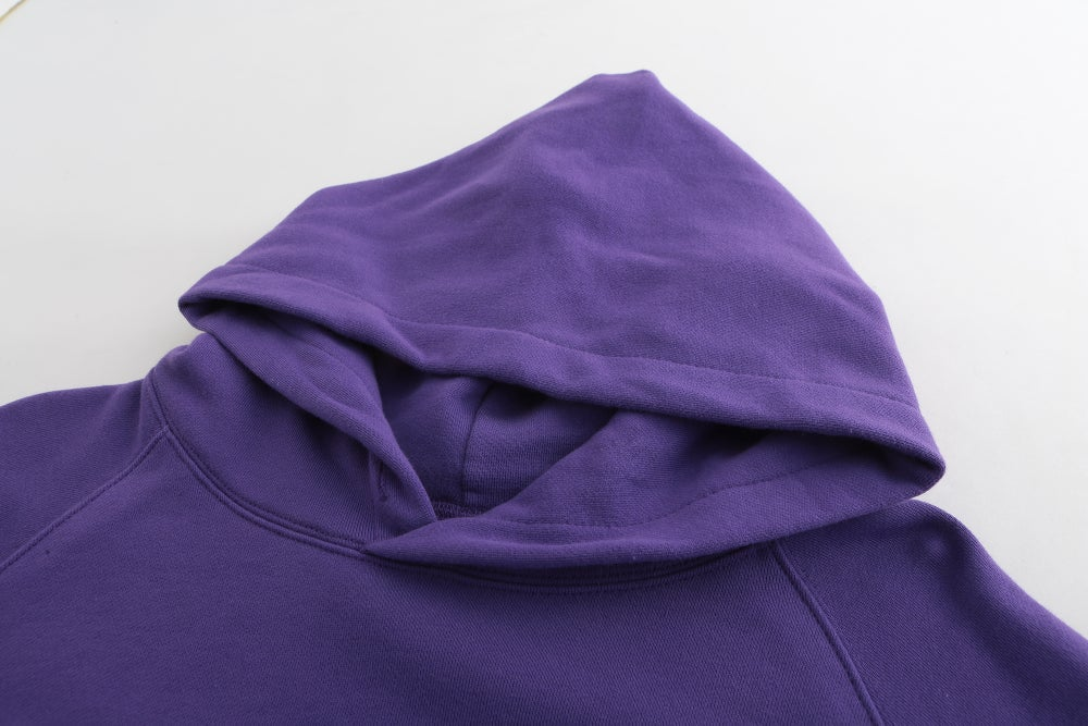 Image of Washed Be Humble Logo Hoodie (Purple)