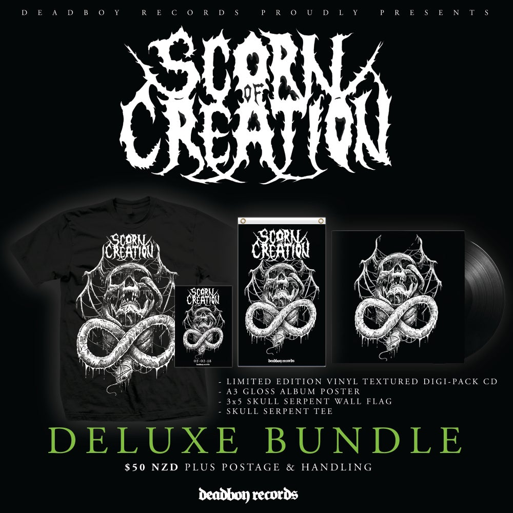 Image of SCORN OF CREATION - SELF TITLED ALBUM PRE ORDER - DELUXE BUNDLE.