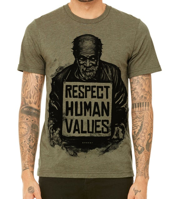 Image of Respect Human Values - Men's Olive