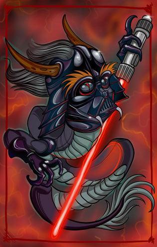 Image of dragon Vader 11x17 print