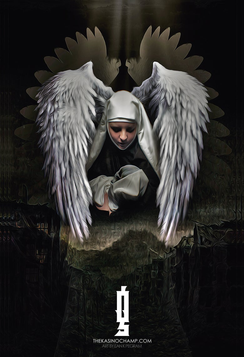 "Image of ""Angel"" Poster Print, Tee and Phone Case Bundle"