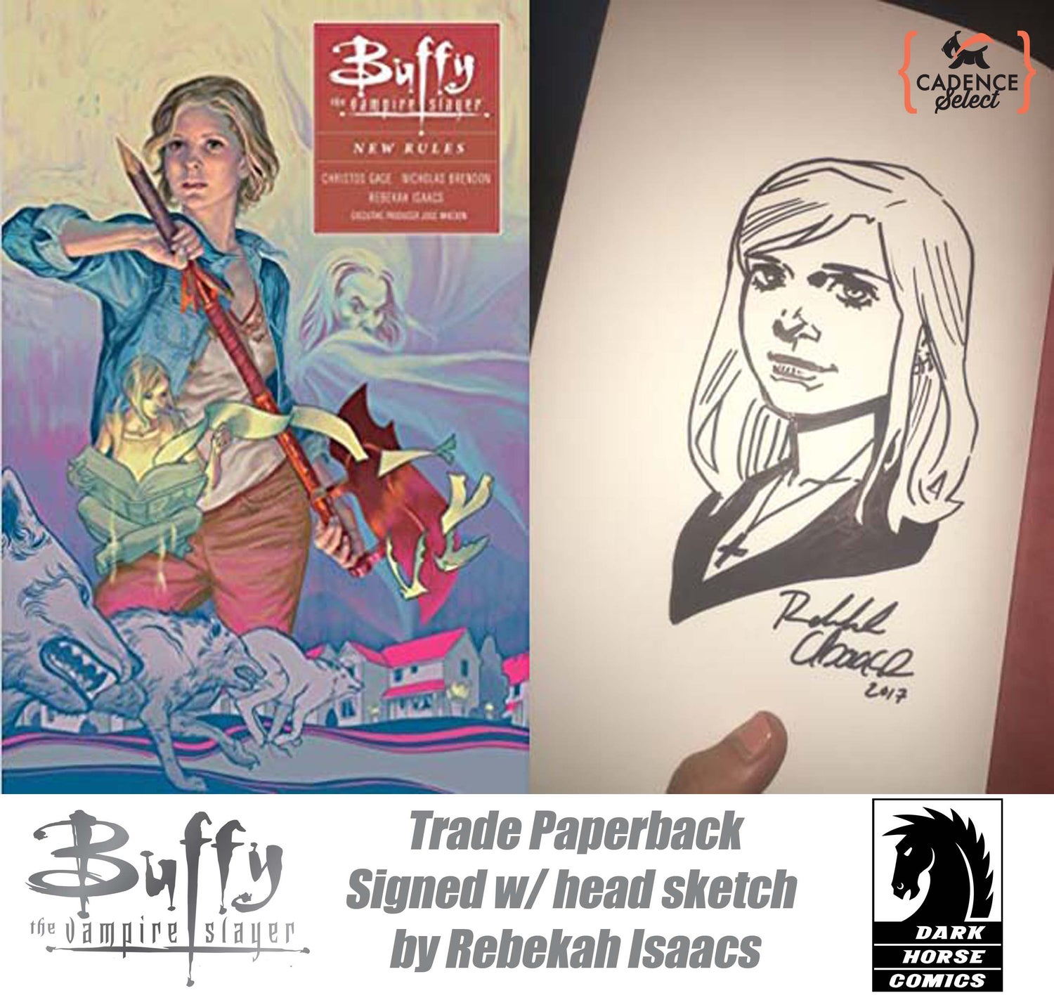 Image of Buffy The Vampire Slayer or Angel & Faith TPB Signed by Artist Rebekah Isaacs w/ Sketch