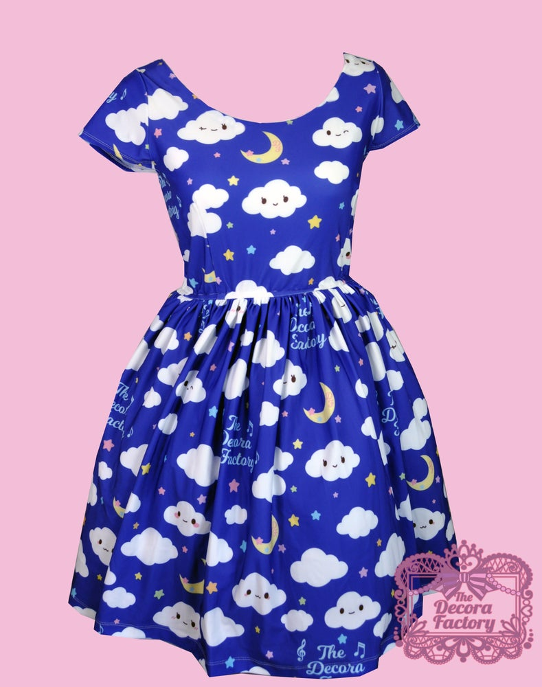 Image of Wandering Cloud Pocket Skater Dress