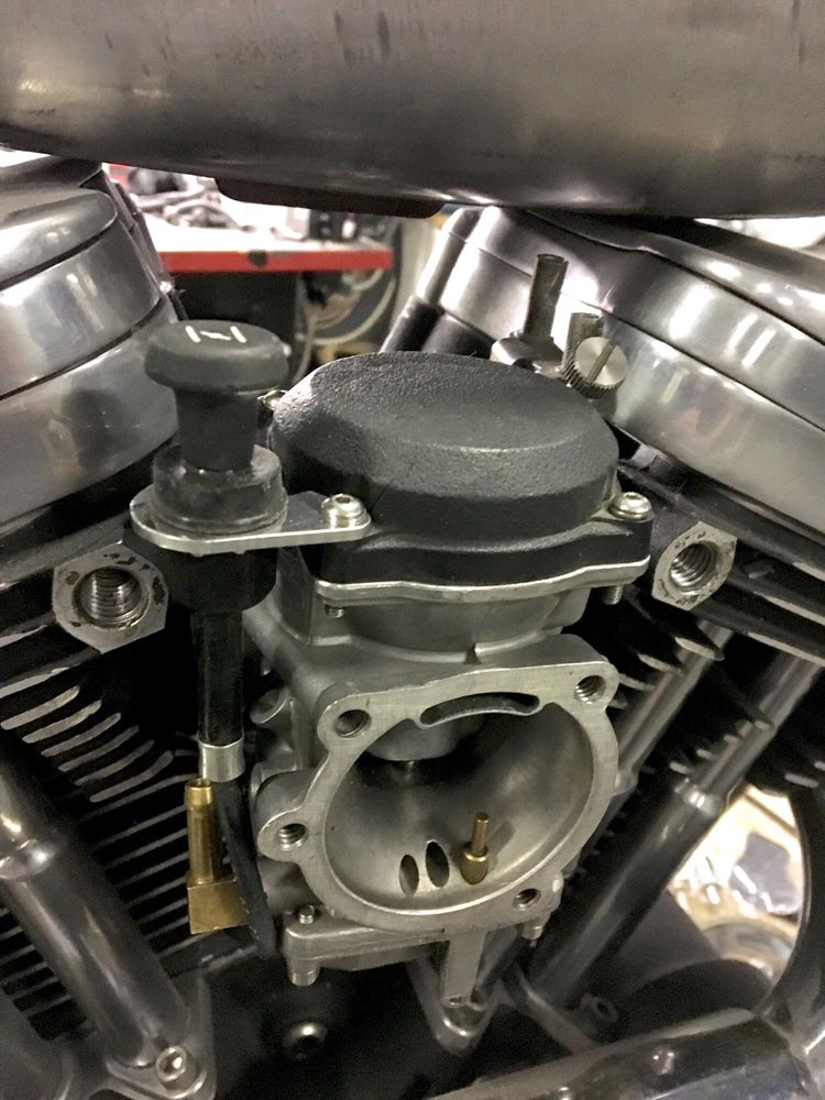 Image of CV Carb Top Choke Relocation