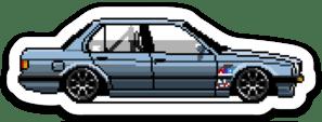 Image of Pixel Art E30 Stickers