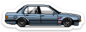 Image of Pixel Art E30 Stickers