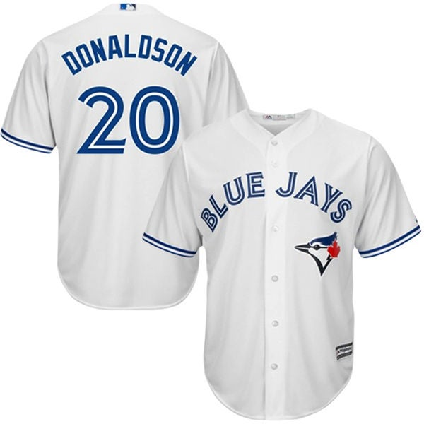 Image of Men's Toronto Blue Jays Josh Donaldson White Home Jersey