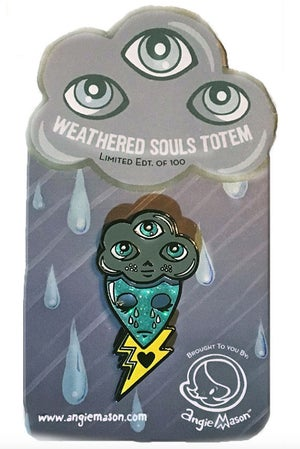 Image of WEATHERED SOULS TOTEM - ENAMEL PIN LTD ED OF 100