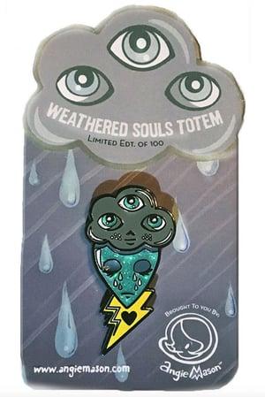Image of WEATHERED SOULS TOTEM - ENAMEL PIN LTD ED OF 100