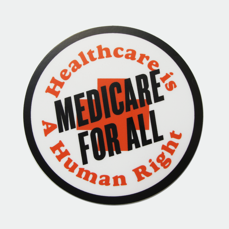 "Image of Medicare for All 3"" sticker"