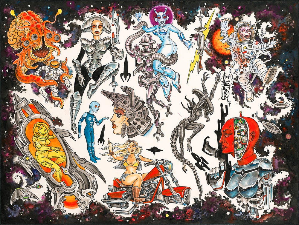 "Image of Tim Lehi ""Science Fiction Tattoo Designs"" Poster"