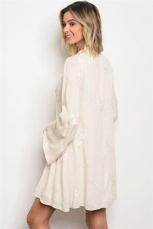 Image of Ivory skater dress