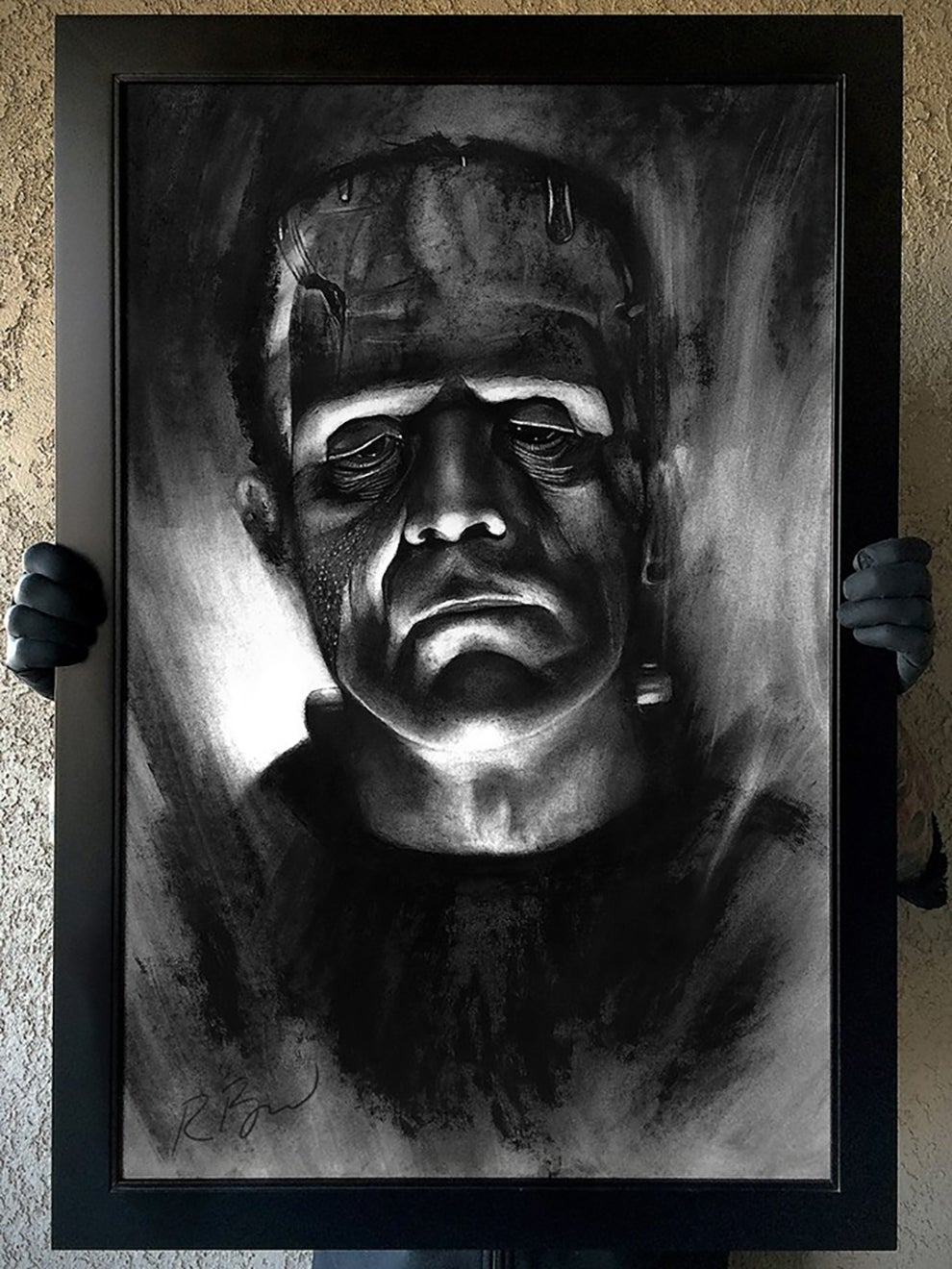 "Image of ""Die Monster Die"" Original Karloff Frankenstein art"