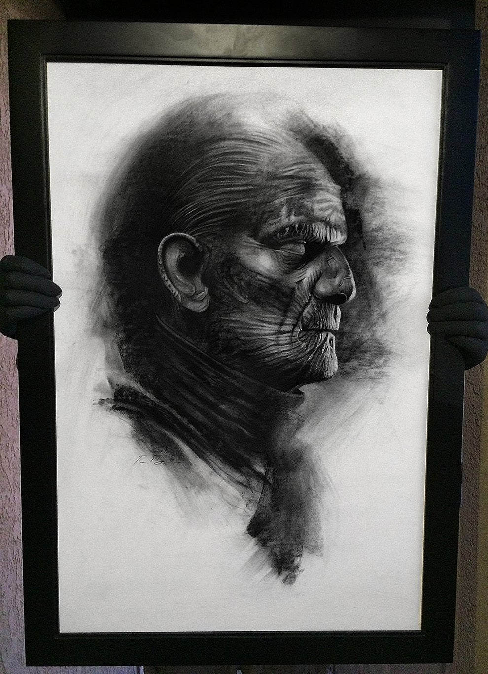 "Image of ""Powerslave"" Original Karloff Mummy art"