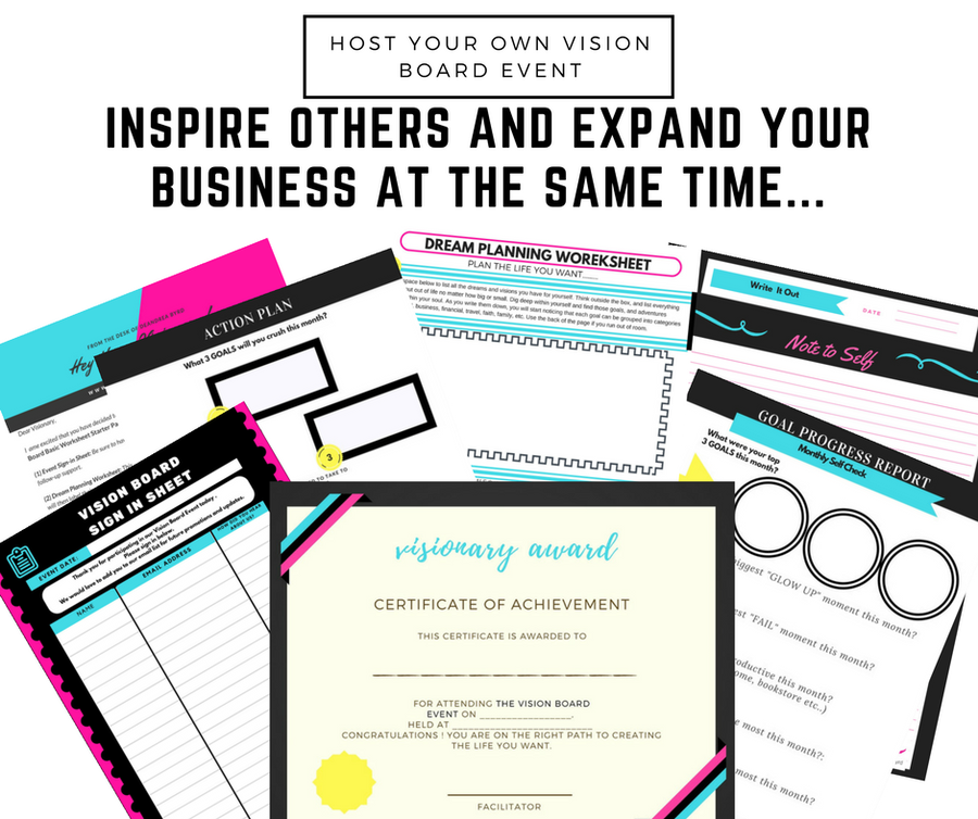 Image of Vision Board Event Starter Kit (Instant Download)