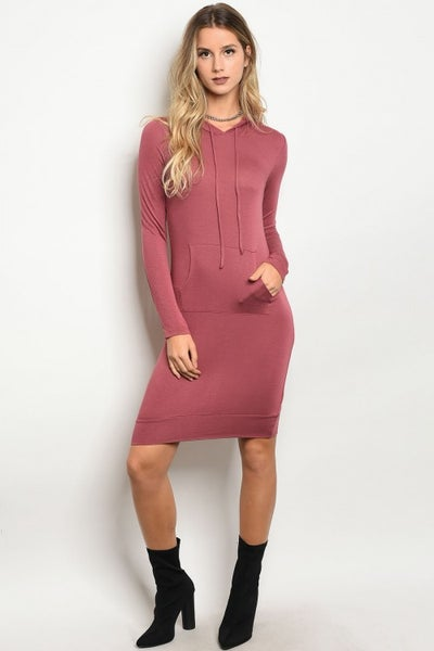 Image of Berry knit dress