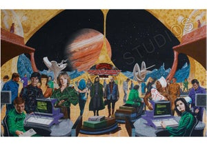 Image of Tour Of The Universe – Ganymede Base A4/A3 prints – CLEARANCE SALE