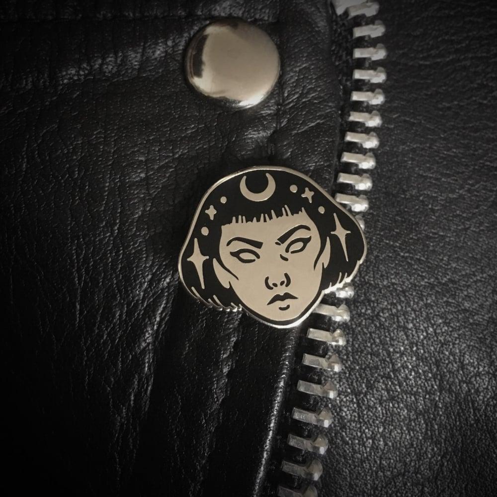 Image of Galaxy Girl enamel pin