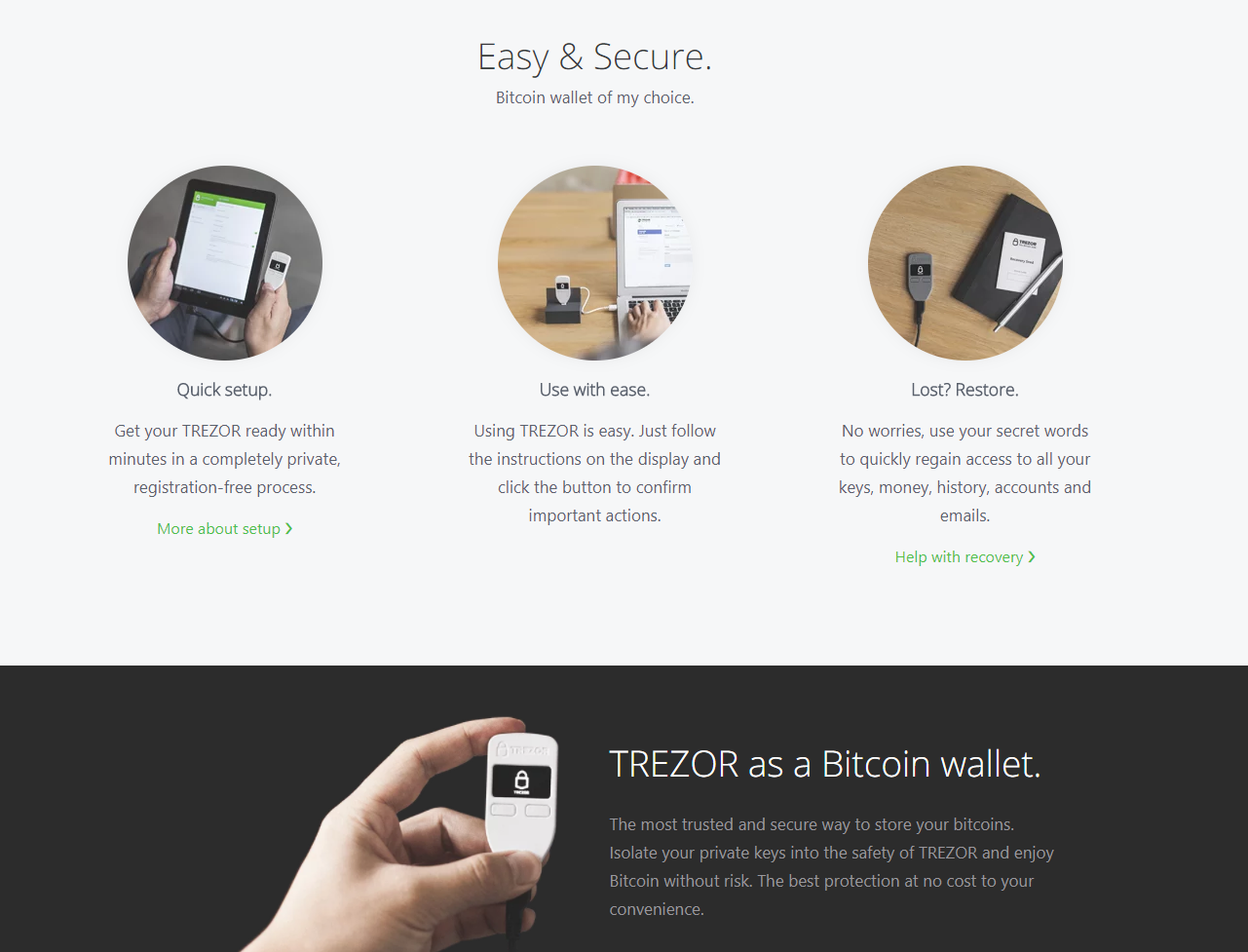Image of Trezor Black