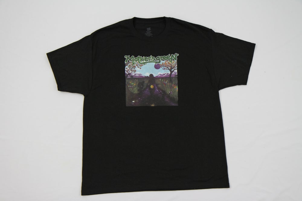 Image of MOTHER'S GREEN SWIMMING IN THE SUN T SHIRT FREE WITH PURCHASE OF VINYL CD COMBO