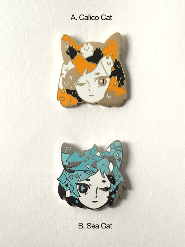 Image of Cat Pins (A/B)