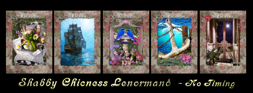 Image of SHABBY CHICNESS Lenormand (NO TIMING TEXT)-36 Traditional Cards (other sizes and options)
