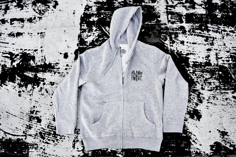 "Image of ""Deer Lord"" Ash Grey ZipUp Hoodie"