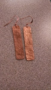 Image of Hammered copper earrings