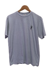 Image of CARRY THE TORCH <br /> EMBROIDERED TEE <br /> PALE INDIGO