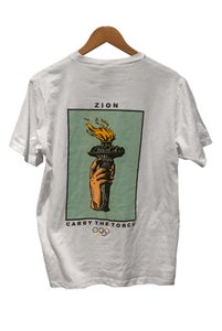 Image of CARRY THE TORCH TEE <br />  WHITE