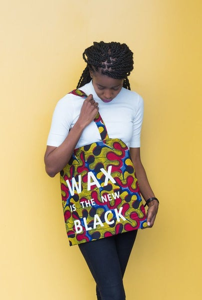 Image of Tote bag Awoulaba Wax Is The New Black 20% OFF