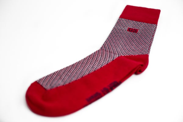 Image of Red Tweed Socks