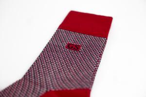 Image of Red Tweed Socks
