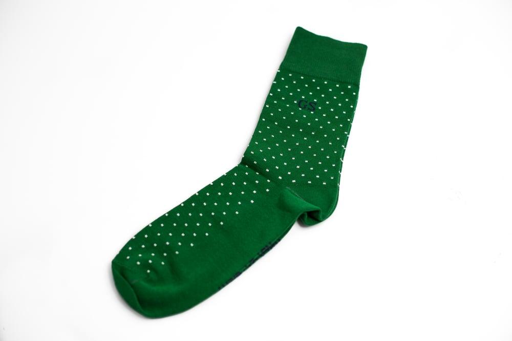 Image of Green Polka Dots Socks