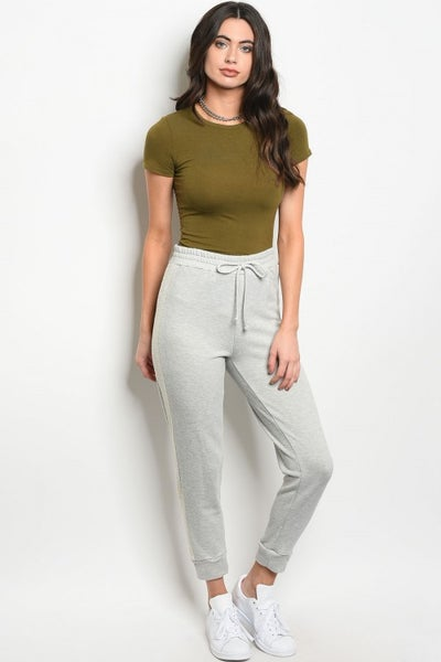 Image of Grey fitted sweat pants